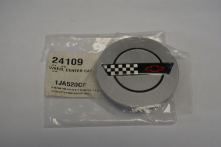 C4 Corvette,Wheel centre Cap,Silver,New
